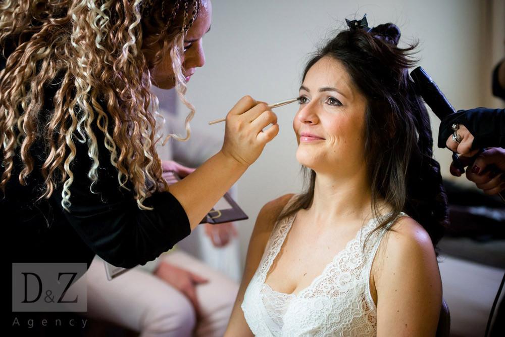 Maquillage mariée à domicile D&Z Agency