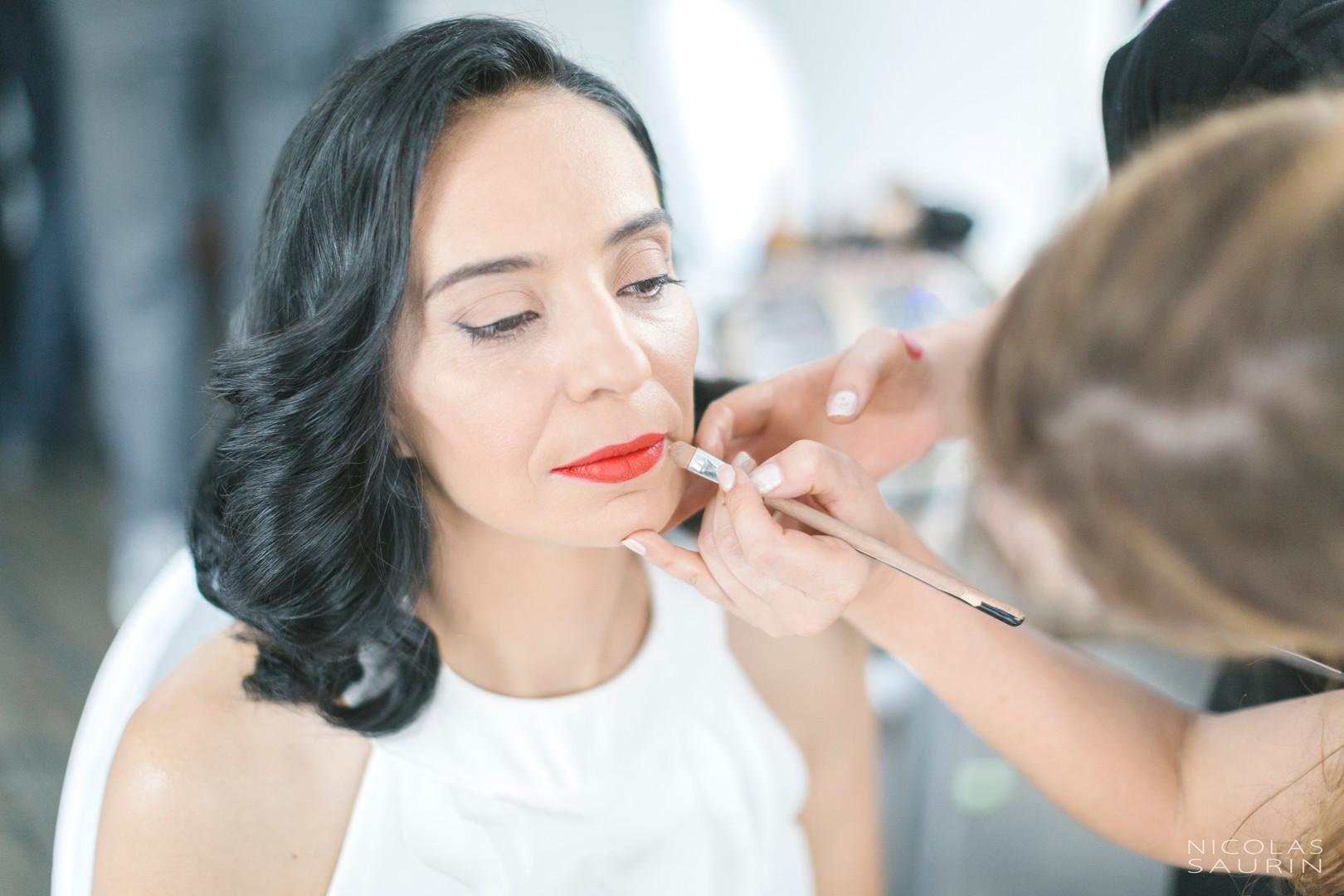 Maquillage invitée par l'équipe D&Z Agency