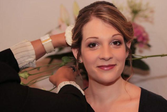 Coiffure et maquillage mariée juillet 2014