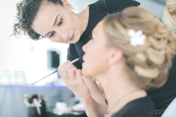 Mise en beauté par professionnelle de D&Z Agency