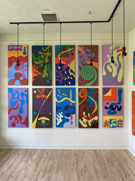Ten Matissea Series paintings