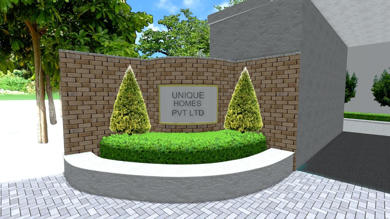 Company nameboard Planter box - Formal