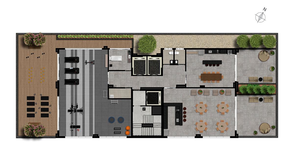 Implantação - Rooftop
