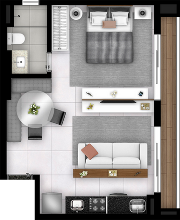Studio - 44m²