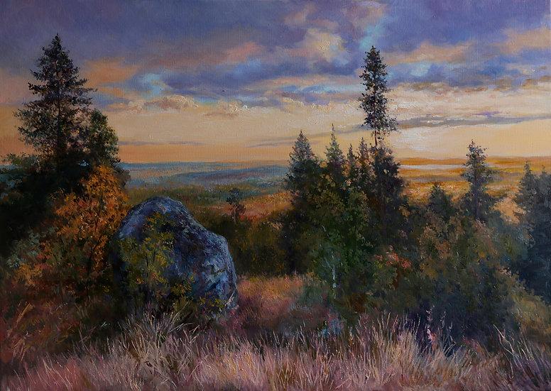 Уральский пейзаж 50х70