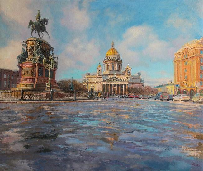 Вессений Петербург 50х60