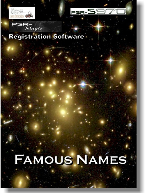 Famous Names (PSR-Magic) - Download Only