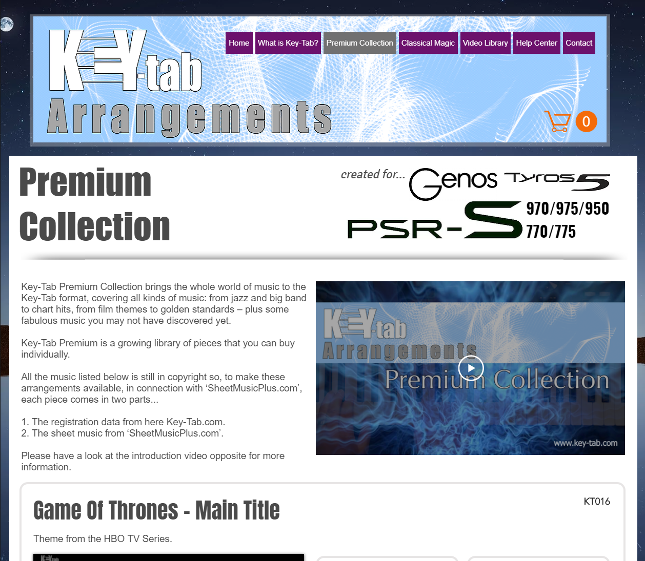 Key-Tab Arrangements for Yamaha Tyros 5, Genos and PSR-S Series