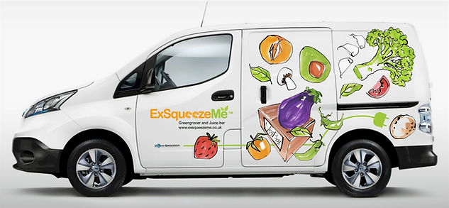 Veg box van side