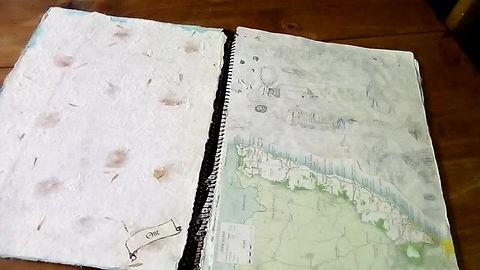 Art Journal Scrapbook from my teenage years.