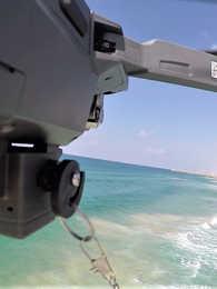 drone fishing at sea