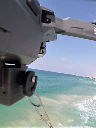 drone fishing at sea