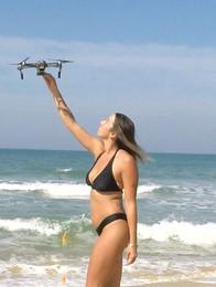 bikini girl drone fishing florida
