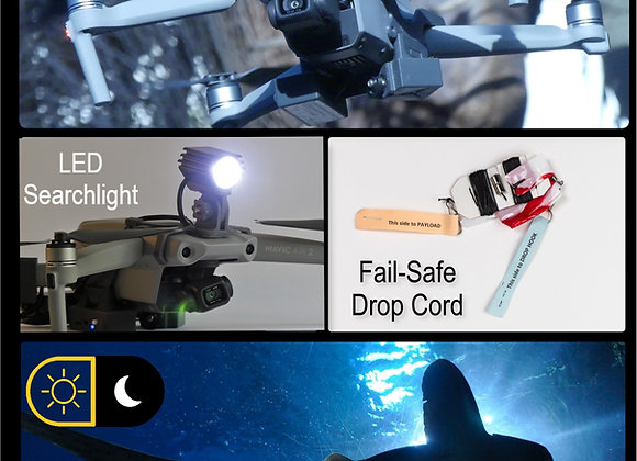 Daylight and Low-Light Drone Fishing System for DJI Mavic AIR 2
