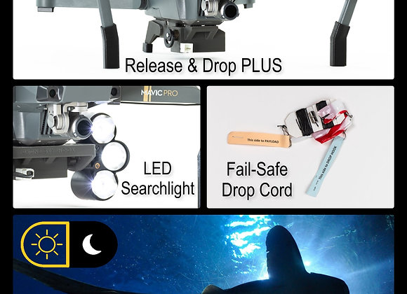 Daylight and Low-Light Drone Fishing System for DJI Mavic PRO