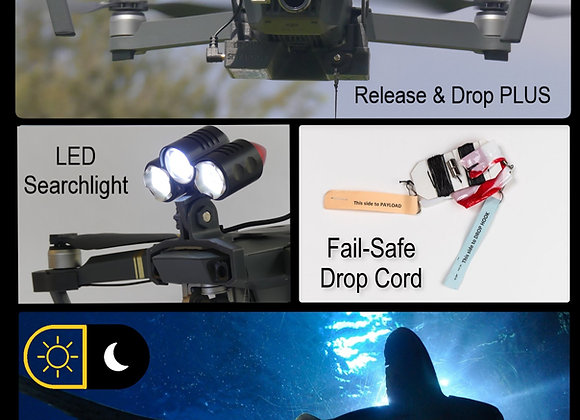Daylight and Low-Light Drone Fishing System Gen-2 for DJI Mavic 1 Pro/Platinum