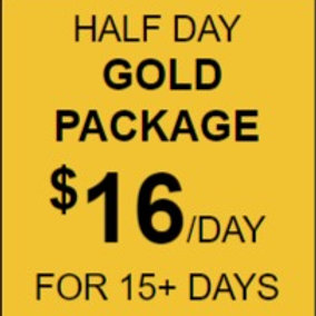 Half Day Gold Daycare Package Rate
