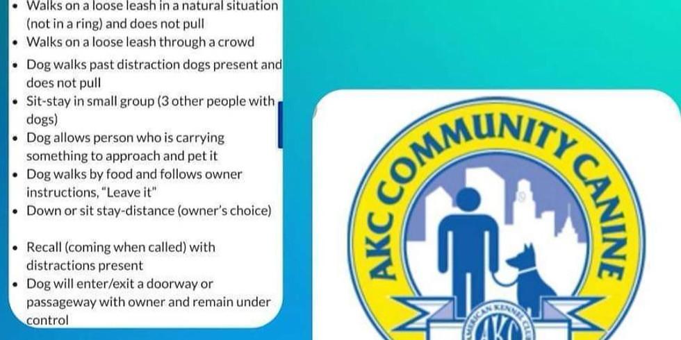 CGCA Canine Good Citizen Advance Test