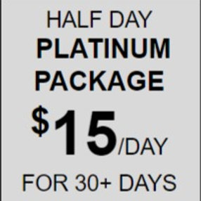 Half Day Platinum Daycare Package Rate