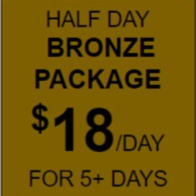 Half Day Bronze Daycare Package Rate