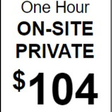 Hour Private (On Site)