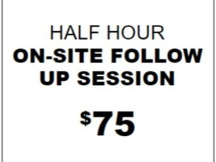 Half Hour ON-SITE Private for Reactivity/Aggression