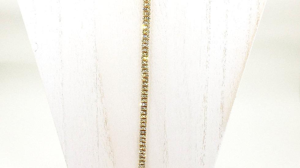 2-strand Necktie Tennis Necklace