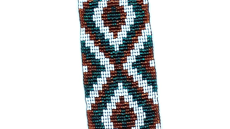 Loom Bracelet Copper White and Green