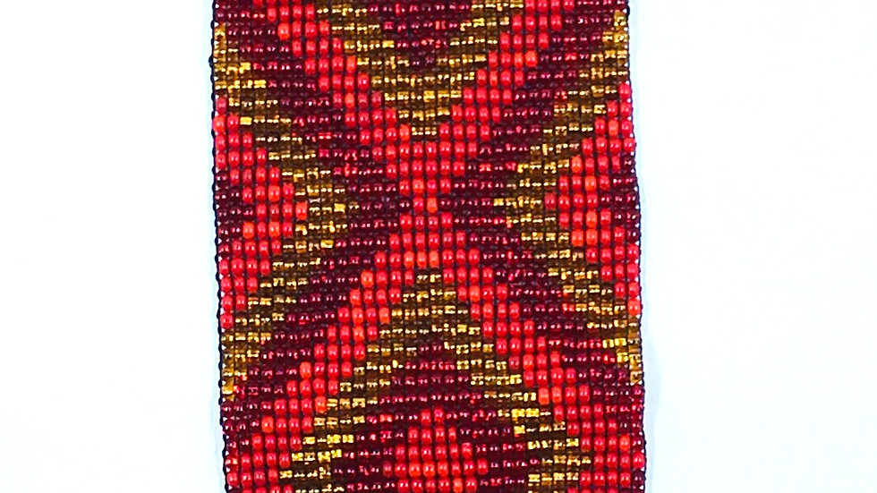 Loom Bracelet Red and Gold