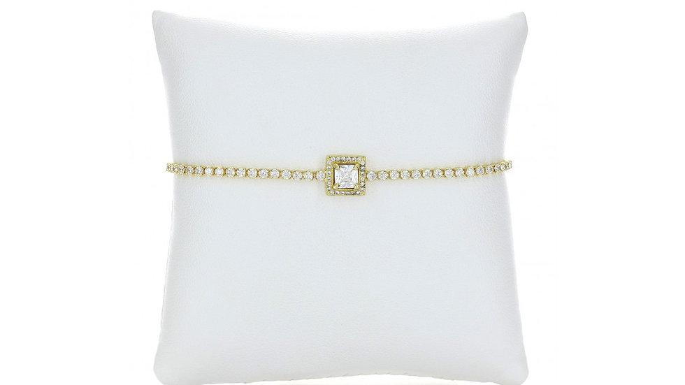 Gold Square Chain Link Ankle Bracelet