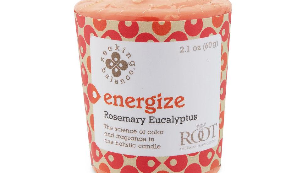 SEEKING BALANCE® ENERGIZE 20 HOUR VOTIVE ROSEMARY EUCALYPTUS ENERGIZE