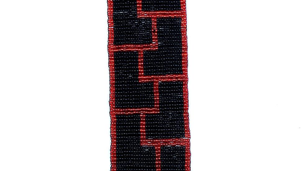 Loom Bracelet Black and Red