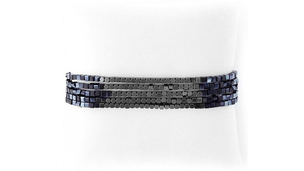 Black Five Strand Bracelet