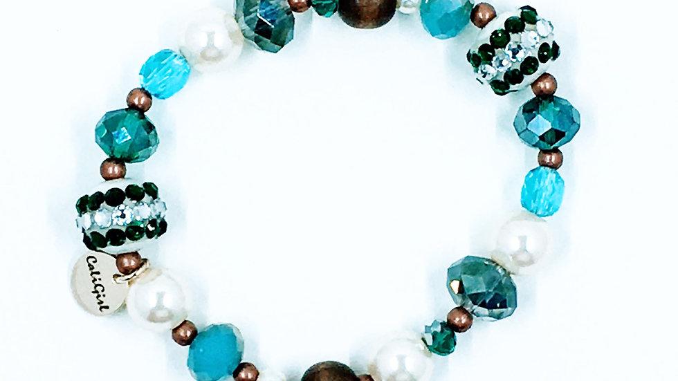 Turquoise Mix Stretch Boho Bracelet