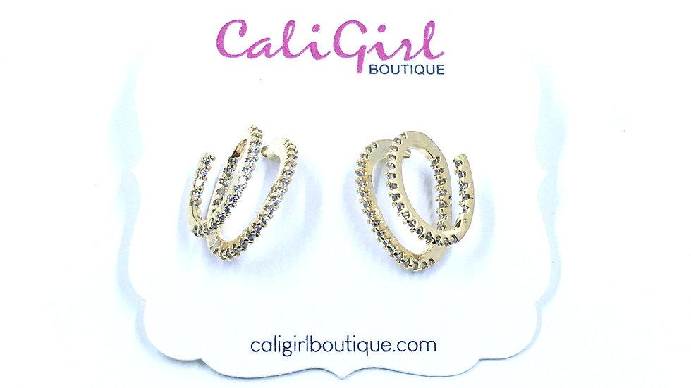 Spiral Bling Earring