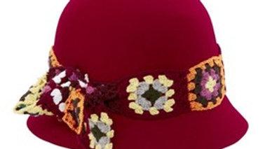 Womens Crochet Flower Band Cloche