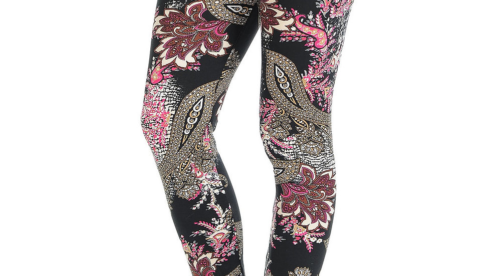 BUTTERY SOFT BERRY PLUME LEGGINGS