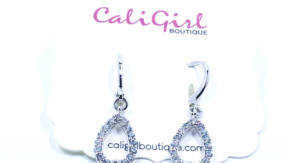 Crystal Tear Drop Dangle Earrings