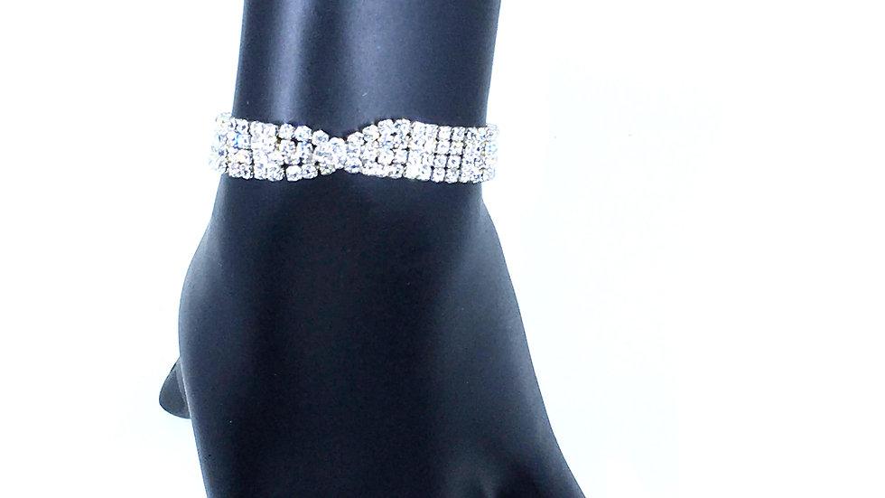 4 Strand Overlapping Bling Bracelet