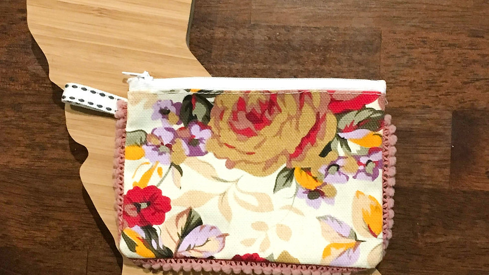 Floral Handmade Fabric Coin Purse