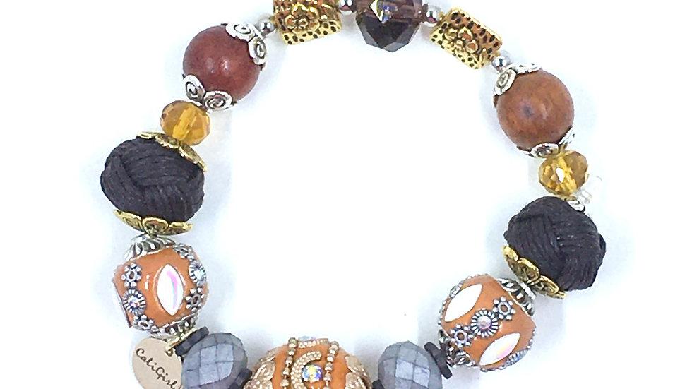 Vintage Orange Boho Bracelet