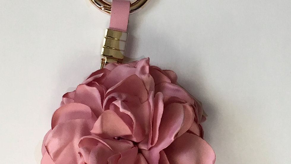Flower Petal Pom Pom Charm For Handbag