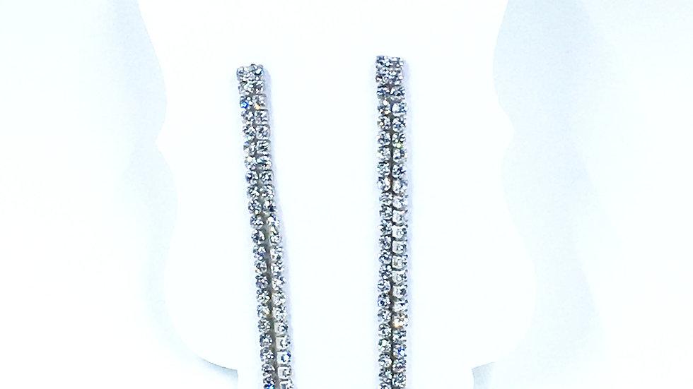 Double Strand Silver BLING Duster Earrings