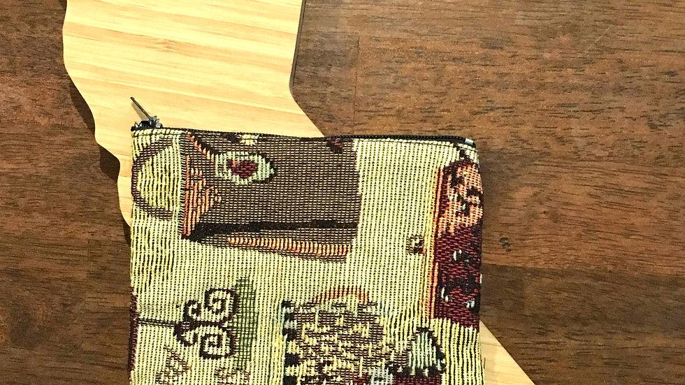 Accessory Print Handmade Woven Fabric Coin Purse
