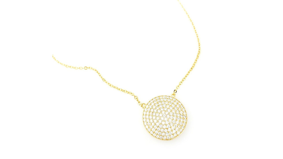 CZ Round Necklace