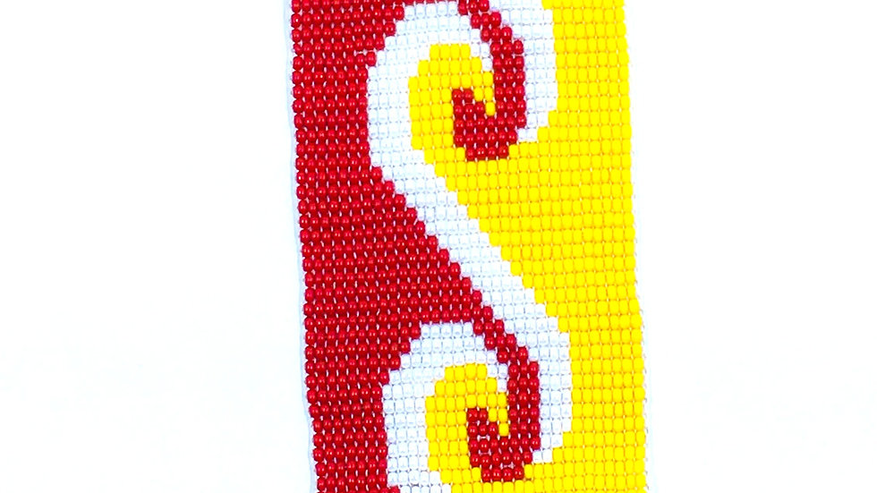 Loom Bracelet Red, White and Yellow