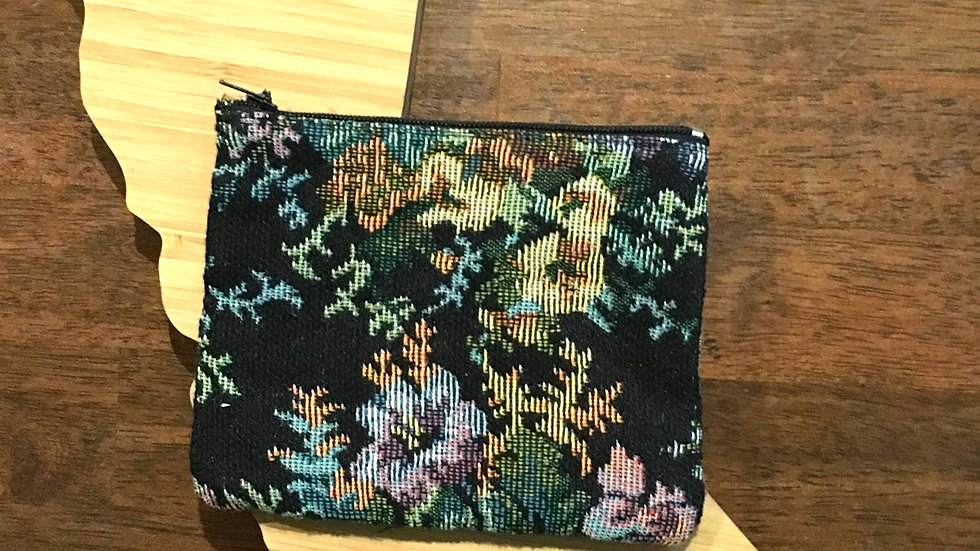 Double Sided Floral Handmade Fabric Coin Purse