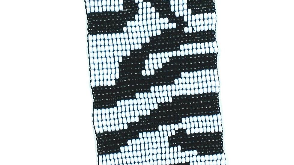Loom Bracelet- Black and White