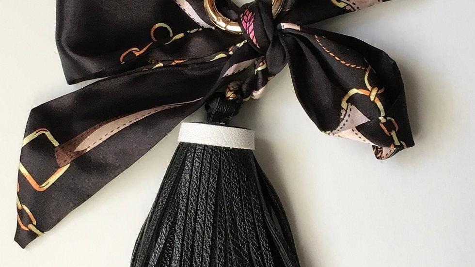 Scarf & Oversized Tassel Handbag Charm