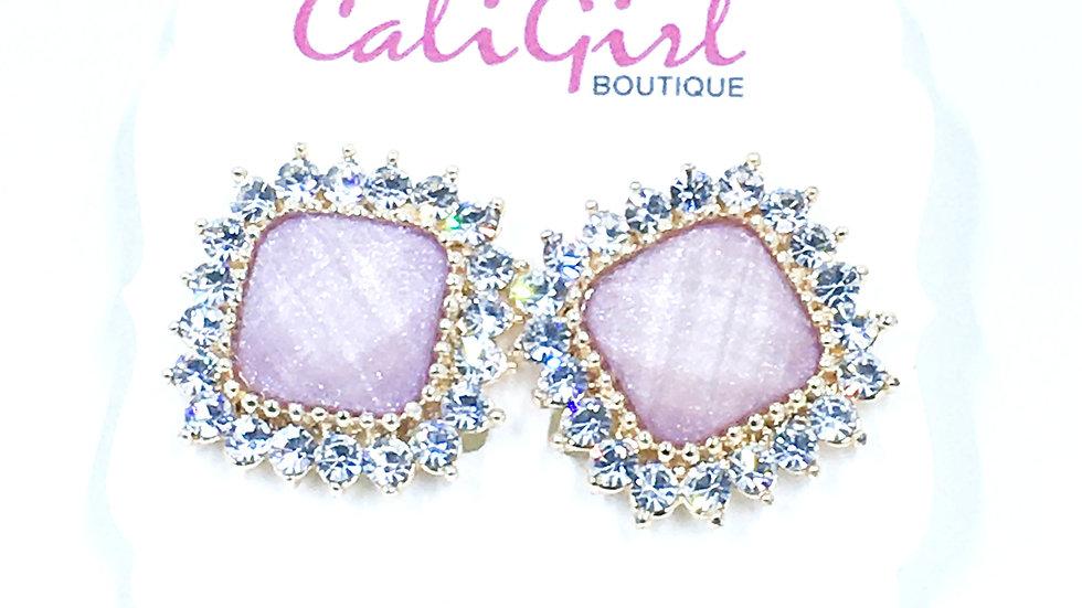 Pink Halo Stud Earring